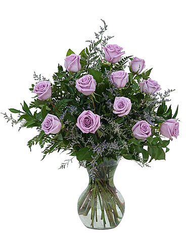 Lovely Lavender Roses Flower Arrangement