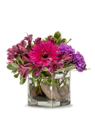 Simply Purple Flower Arrangement