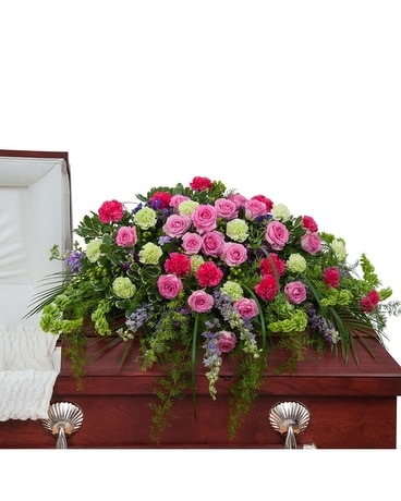 Forever Cherished Casket Spray Flower Arrangement