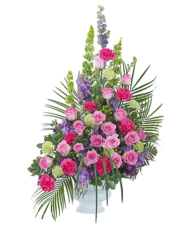 Forever Cherished Crescent Spray Flower Arrangement