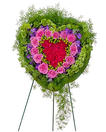 Forever Cherished Heart Flower Arrangement