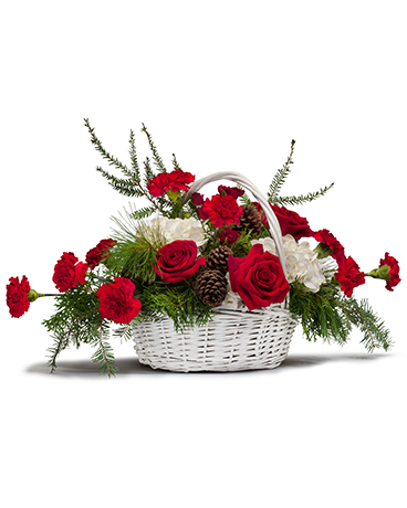 Holiday Basket Bouquet Flower Arrangement