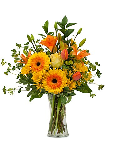 Citrus Spray Flower Arrangement