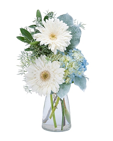 Blue Mist Flower Arrangement