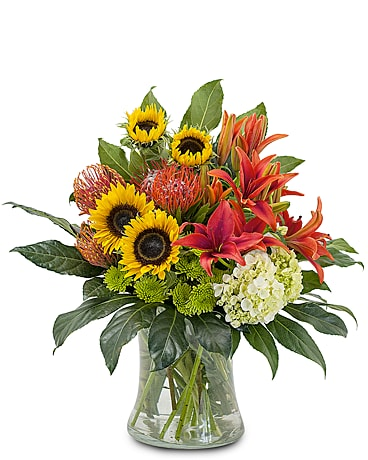 Harvest Sun Flower Arrangement