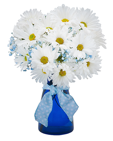 Baby Blue Flower Arrangement