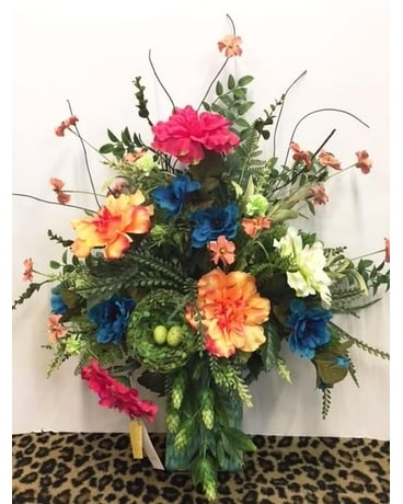 Dodson's Custom Silk Flower Arrangement