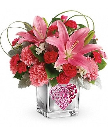 Teleflora's Jeweled Heart Bouquet Flower Arrangement