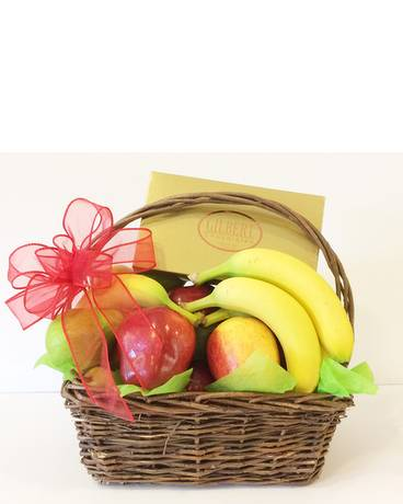 Fruit and Chocolate Basket Gift Basket