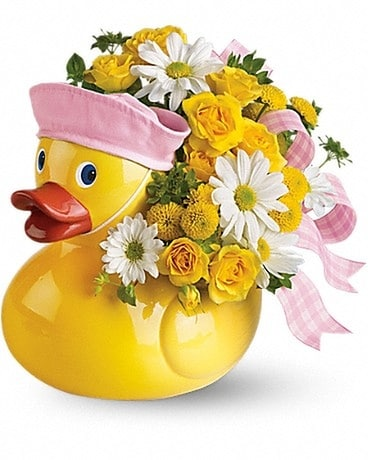 Teleflora's Ducky Delight- Girl Flower Arrangement