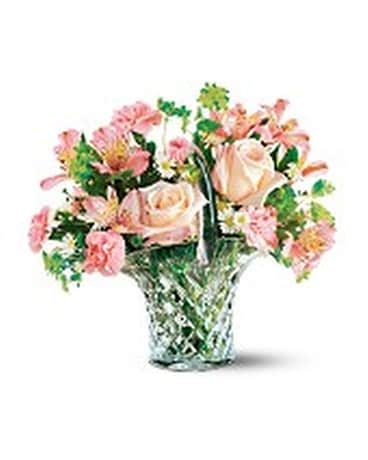 Teleflora's Galway Irish Crystal Bouquet Flower Arrangement