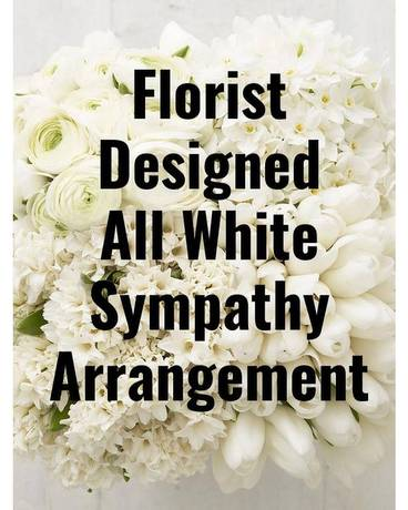 All White Sympathy Arrangement Funeral Arrangement