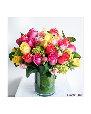 Flower Talk's Love You a Bunch Flower Arrangement