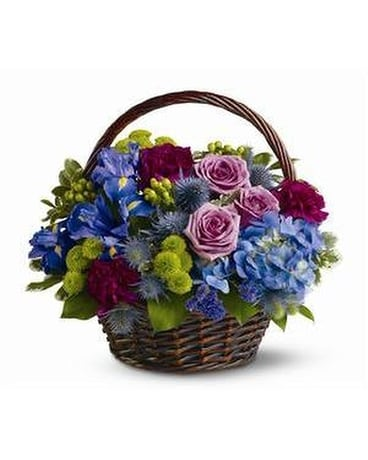 Twilight Garden Basket Arrangement