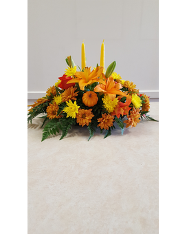 Beall's Florist - Double Candle Centerpiece Flower Arrangement