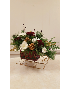 Beall's - Christmas Sleigh Flower Arrangement