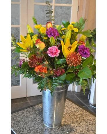 Tropical Garden Flower Arrangement
