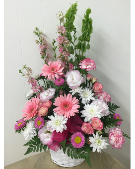 Pink Delight Baket Flower Arrangement