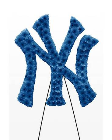 NY Yankees Logo without boarder Flower Arrangement