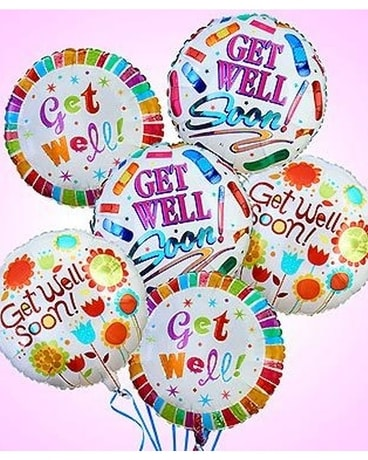Get Well Soon Balloon Bouquet Gifts