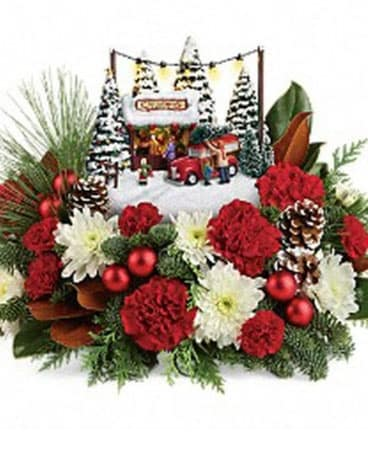 Thomas Kinkade Family Tree Flower Arrangement