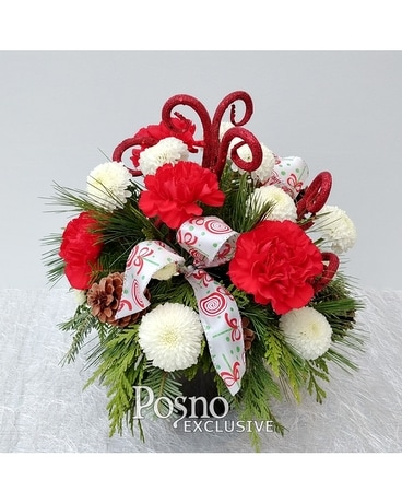 Festive Swirl Flower Arrangement