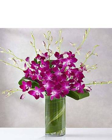 Purple Orchid Embrace Flower Arrangement