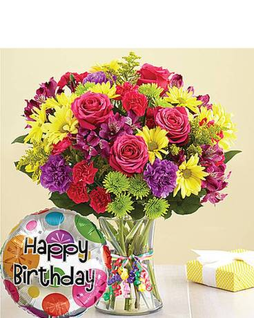 It's Your Day Bouquet Happy Birthday Flower Arrangement
