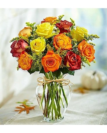 Rose Eleganc Premium Autumn Roses Flower Arrangement