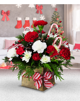 Candy Cane Bouquet Flower Arrangement