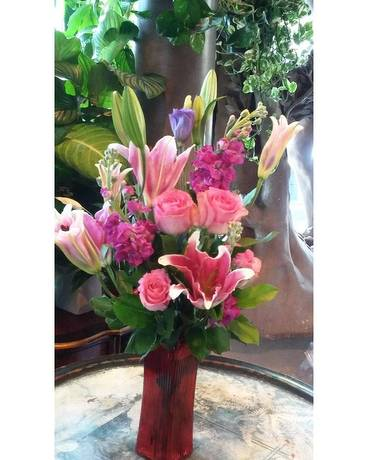 Likin' Pink & Purple Flower Arrangement