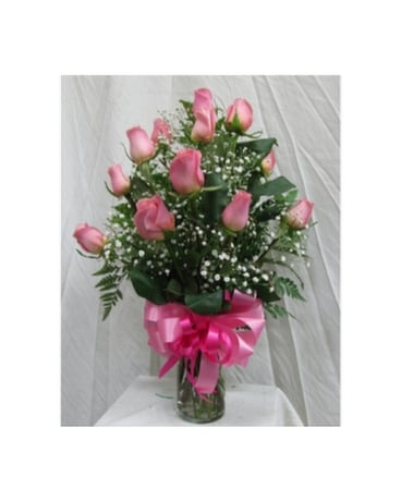 Dozen roses light pink in san diego ca the floral gallery dozen roses light pink flower arrangement mightylinksfo