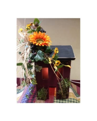 Silk flowers for spring delivery portsmouth oh kirbys flowers quick view lighted wood house with silk flowers mightylinksfo