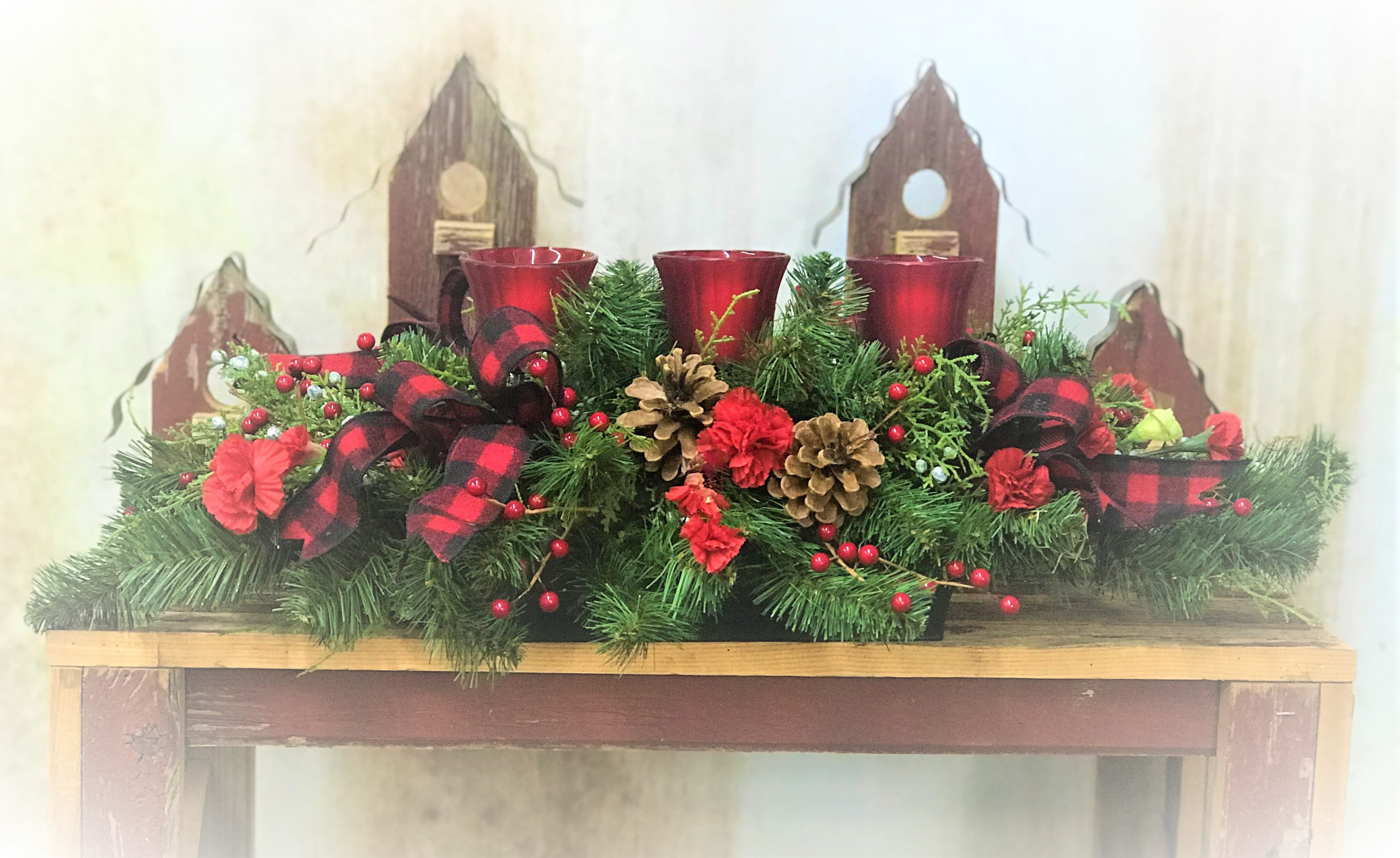 Fresh Evergreen Centerpiece Workshop
