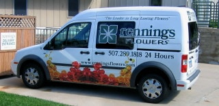 Rennings Flowers Delivery Van