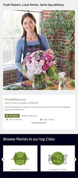 find-a-florist homepage