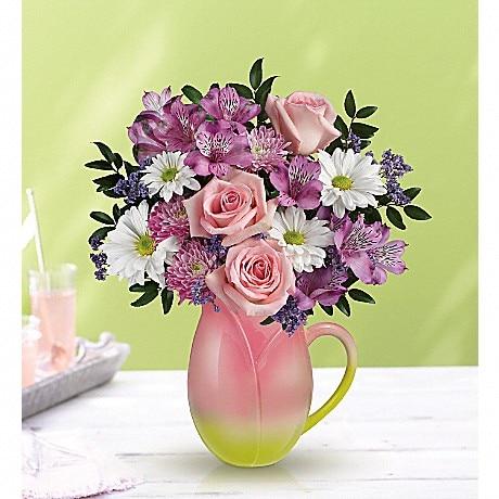 Telefloras spring tulip pitcher bouquet in whiting in whiting telefloras spring tulip pitcher bouquet mightylinksfo