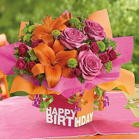 Teleflora S Rosy Birthday Present In Auburn Ny Shaw Boehler Florist