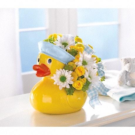 Teleflora's Ducky Delight - Boy (T34-3A) Flower Arrangement