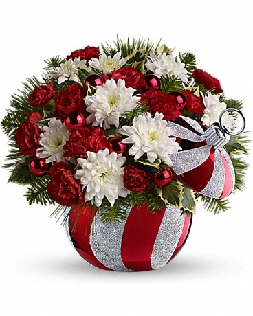 Celebrations by Radko Ornament by Teleflora Flower Arrangement