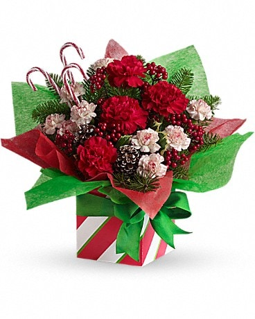 Teleflora's Christmas Present Perfect Flower Arrangement