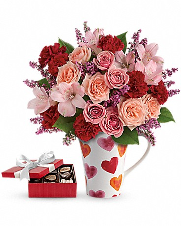 Lovely Hearts Bouquet with chocolates Bouquet