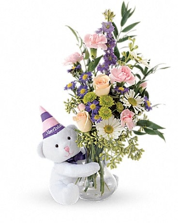 Teleflora's Party Bear Bouquet
