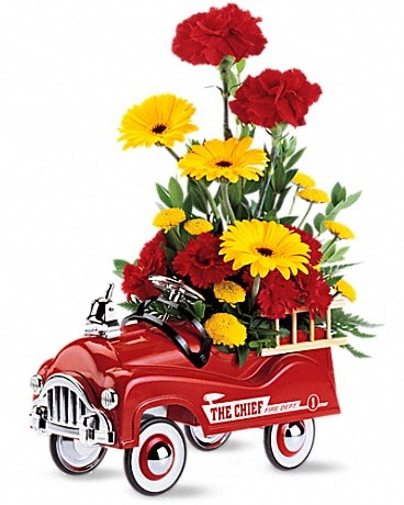 Teleflora's Fire Engine Bouquet Flower Arrangement