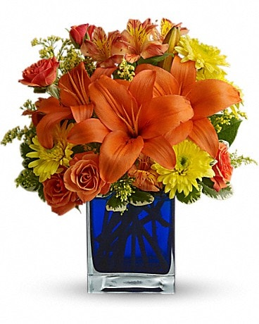 Metairie florist flower delivery by villeres florist summer nights by teleflora bouquet mightylinksfo