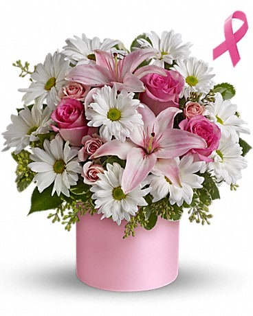 Teleflora's Pink Hope and Courage Bouquet Flower Arrangement