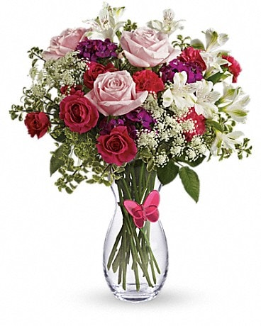 Pink Butterfly Bouquet by Teleflora Bouquet