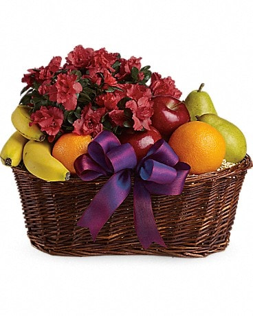 Fruits and Blooms Basket Gift Basket