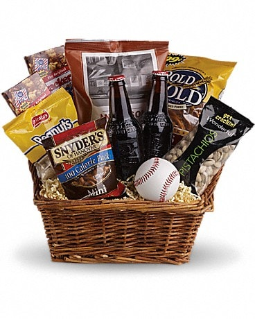 Compton's Take Me Out to the Ballgame Basket Gift Basket