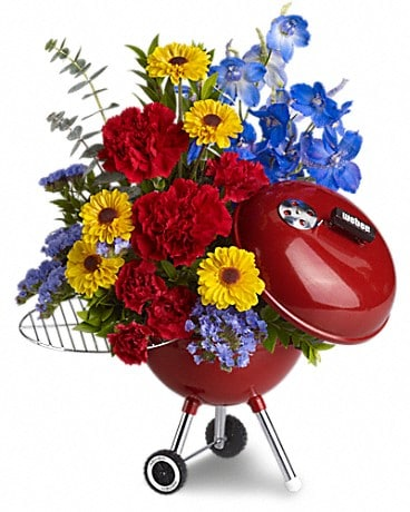 WEBER® King of the Grill by Teleflora Flower Arrangement